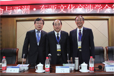 Choi Gwan (Left), 2011 sub-President, Korea University Ma Min (Center), 2011 President, HuaZhong Normal University Huang Chun-Chieh (Right), 2010 President, National Taiwan University